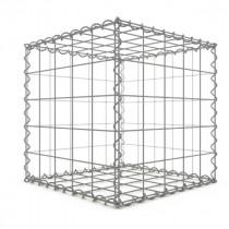 Gabion Cubique 50x50x50 cm 4 faces fil 4 mm maille 10x10 cm