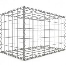 Gabion Rectangulaire 80x50x50 cm 4 faces fil 4 mm maille 10x10 cm