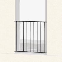 Garde-corps pour Fenêtre Classique, hauteur 80 cm, Dimensions au Choix