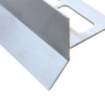 Profilé Goutte d'eau Aluminium Mat Chromé pour Carrelage 21 mm x 2,5 m