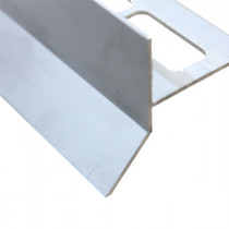 Profilé Goutte d'eau Aluminium Brossé pour Carrelage 21 mm x 2,5 m