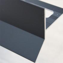 Profilé Goutte d'eau Aluminium Noir Mat pour Carrelage 21 mm x 2,5 m