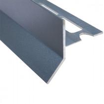 Profilé Goutte d'eau Aluminium Gris Sablé pour Carrelage 21 mm x 2,5 m
