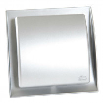 Grille Ventilation Nicoll ⌀ 100 mm à Fermeture Neolia Inox Brossé