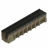 Caniveau ACO Multiline 100 Sealin, Composite noir, 10x100cm + Grille passerelle ( mircrogrip noir )