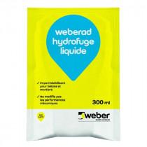 Hydrofuge Liquide Mortiers et Béton Weberad 300ml