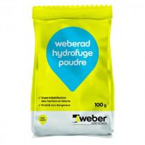 Hydrofuge Poudre Mortiers et Béton Weberad 100g
