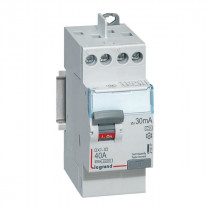 Interrupteur Différentiel 40A Type A 30mA 230V 2P, Legrand 411617