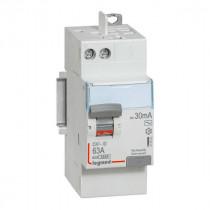Interrupteur Différentiel 63A Type AC 30mA 230V 2P, Legrand 411650