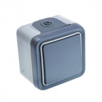 Interrupteur Extérieur Va-et-vient 10A 250V Gris, Legrand 069711