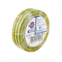 Ruban Adhésif PVC Isolant élec Jaune/Vert 15 mm x 10 m Eurocel ISOTAPE