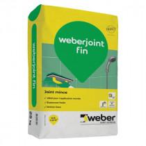 Mortier Joint Mince Gris Ciment pour Mur Weber.Joint Fin 25 kg