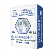 Chaux pure blanche LC Saint Astier  - NHL 3,5 - Sac de 35 kg