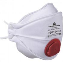 Masque Respiratoire FFP3 avec Soupape Deltaplus M1304V, lot de 10