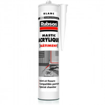 Mastic Acrylique Blanche pour Fixations Rubson, 300ml