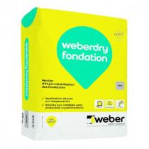Mortier d'Imperméabilisation Fondation Weberdry Fondation Noir 25kg