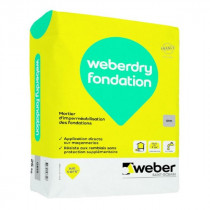 Mortier d'Imperméabilisation Fondation Weberdry Fondation Gris 25kg