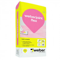 Mortier pour Joint Souple Weber.Joint Flex Gris Ciment 5 kg