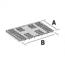Plaque de Réparation Charpente 25 x 102 x 1 mm en Acier Galva Simpson