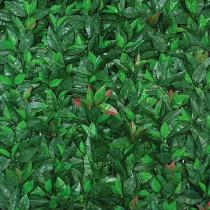 Mur Végétal Artificiel Laurier Rouge 40 mm 1m x 1m