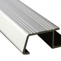 Nez de Marche en Aluminium Mat Chromé pour Carrelage 13 mm x 3 m