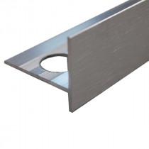 Nez de Marche en Aluminium Brossé pour Carrelage 21 mm x 2,5 m