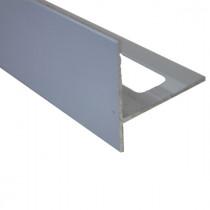 Nez de Marche en Aluminium Gris Sable pour Carrelage 21 mm x 2,5 m