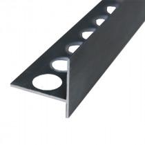 Nez de Marche en Aluminium Noir Mat pour Carrelage 21 mm x 2,5 m