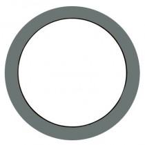 Oeil de boeuf fixe aluminium couleur au choix, ovale 80 x 60 cm