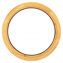 Oeil de boeuf fixe en bois exotique, rond diamètre 90 cm