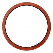 Oeil de boeuf fixe en bois exotique, rond diamètre 100 cm