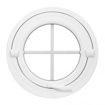 Oeil de boeuf basculant en PVC, rond diamètre 120 cm
