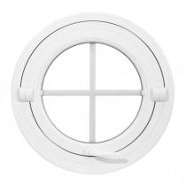 Oeil de boeuf basculant en PVC, rond diamètre 60 cm