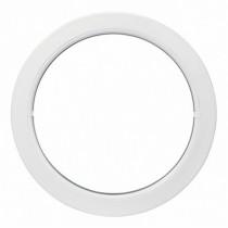 Oeil de boeuf fixe en PVC, ovale 90 x 60 cm