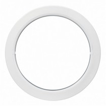 Oeil de boeuf fixe en PVC, ovale 80 x 60 cm