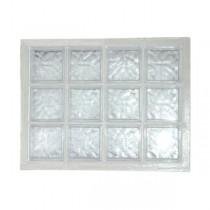 Panneau de 12 briques de verre La Rochère n°34 incolore, 67 x 87 cm