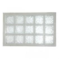 Panneau de 15 briques de verre La Rochère n°35 incolore, 67 x 107 cm