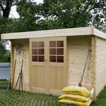 Abri de jardin bois autoclave SOLID modèle PAU 248x248cm