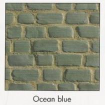 Pavés Courtstone 16,6 x 16,6 x 6 cm couleur Ocean Blue, la palette de 5,1 M2