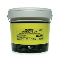 Peinture de façade acrylique et siloxane Natec Peinture 08, 2,5 litres