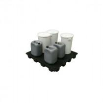 Plateforme Rétention 180l pour 2 Palettes Caillebotis Plastique Engels