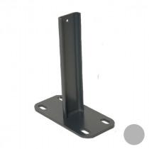Platine inox 20 cm Fixation sur Muret Clôture Ambre RAL 7035 170 x 80 mm