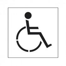 Pochoir symbole Handicapé 45x40cm
