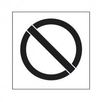 Pochoir symbole Interdiction 45x40cm