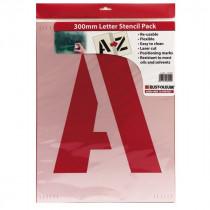 Paquet de pochoirs Lettres  de A-Z en 300 mm