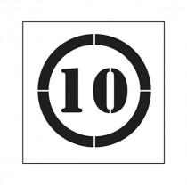 Pochoir symbole Limitation vitesse 10 km/h 90x80cm