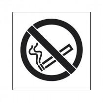 Pochoir symbole Défense de fumer 45x40cm