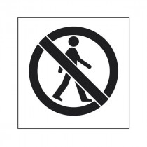 Pochoir symbole Pas l'accès des piétons 90x80cm