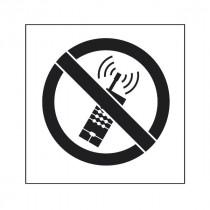 Pochoir symbole Pas de téléphone portable 45x40cm