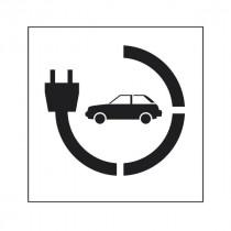 Pochoir Stationnement voiture électrique 90x80cm
